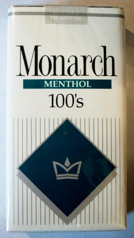 Monarch Menthol 100's - vintage American Cigarette Pack