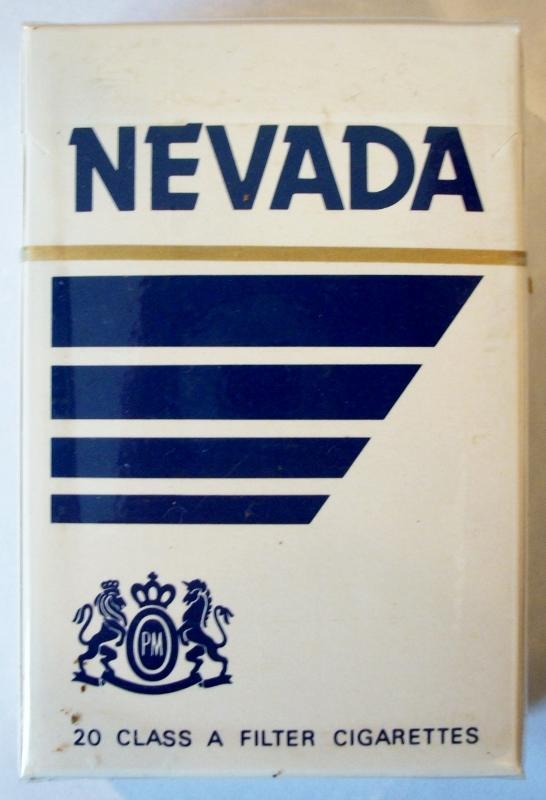 Nevada Filter, King Size - vintage American Cigarette Pack
