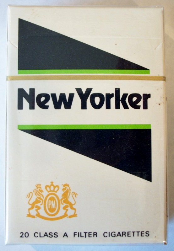 New Yorker Filter, King Size box - vintage American Cigarette Pack