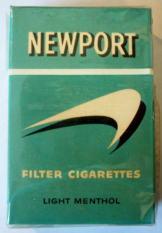 Newport (late 1950s) Filter Cigarettes Light Menthol - vintage American Cigarette Pack