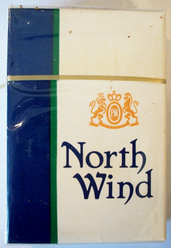 North Wind Filter, King Size - vintage American Cigarette Pack