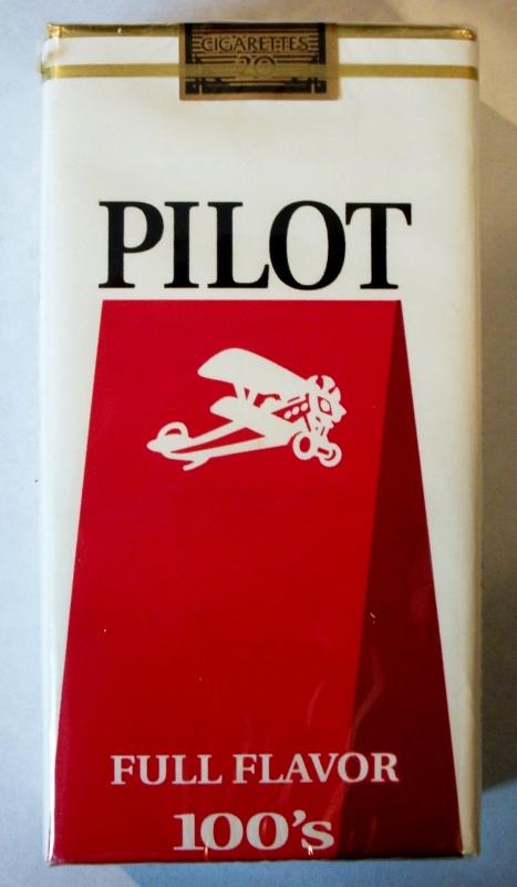 Pilot Full Flavor 100's - vintage American Cigarette Pack