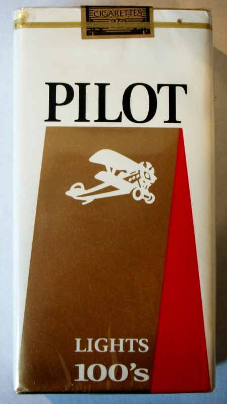 Pilot Lights 100's - vintage American Cigarette Pack