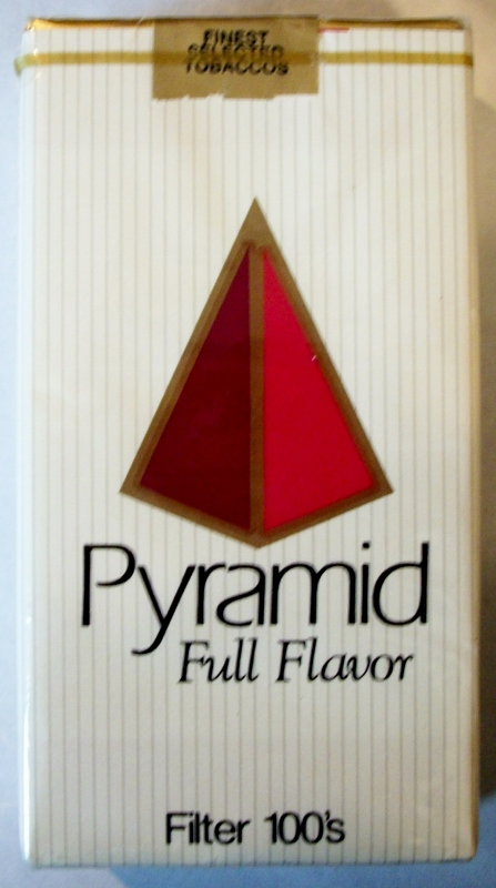 Pyramid Full Flavor Filter 100's - vintage American Cigarette Pack