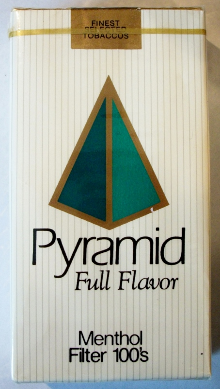 Pyramid Full Flavor Menthol Filter 100's - vintage American Cigarette Pack