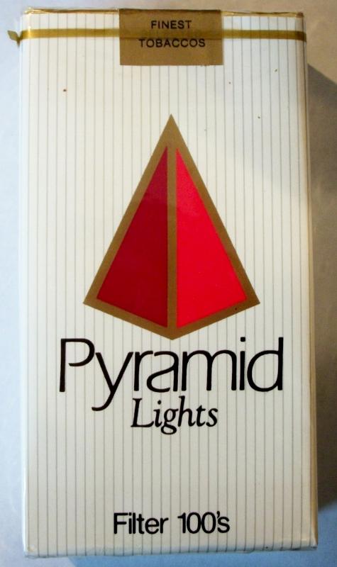Pyramid Lights Filter 100's - vintage American Cigarette Pack