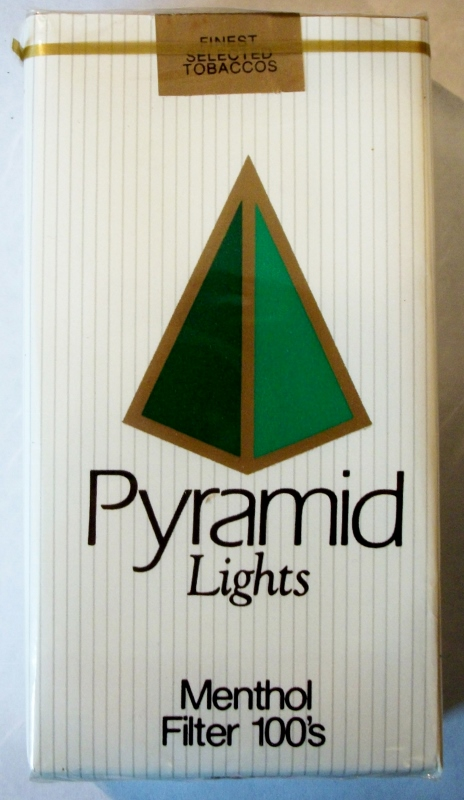 Pyramid Lights Menthol Filter 100's - vintage American Cigarette Pack