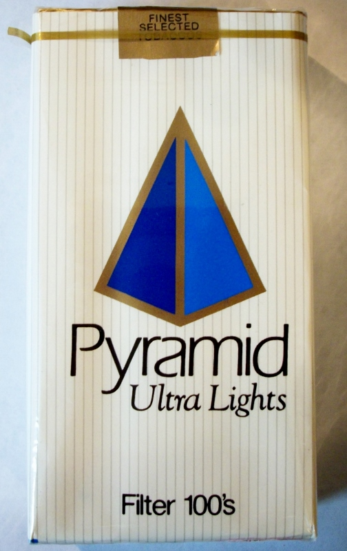 Pyramid Ultra Lights Filter 100's - vintage American Cigarette Pack