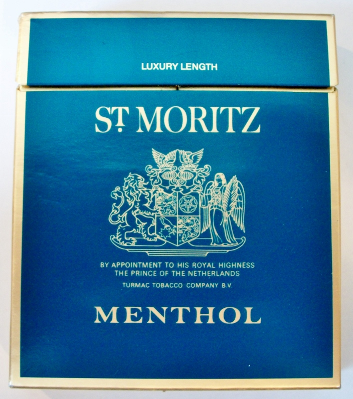 St. Moritz Menthol 100mm - vintage Swiss, Dutch Cigarette Pack