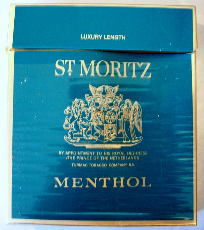 St. Moritz Menthol 100mm - vintage Dutch Cigarette Pack