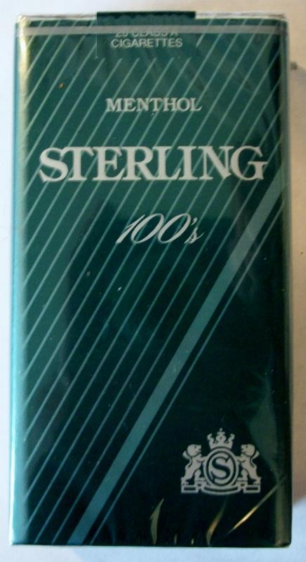 Sterling Menthol 100's - vintage American Cigarette Pack