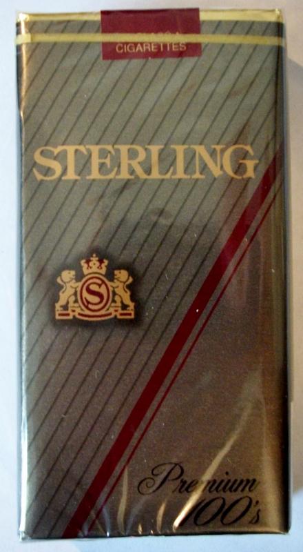 Sterling Premium 100's - vintage American Cigarette Pack
