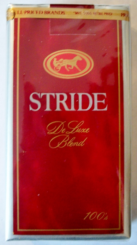 Stride DeLuxe Blend 100's - vintage American Cigarette Pack