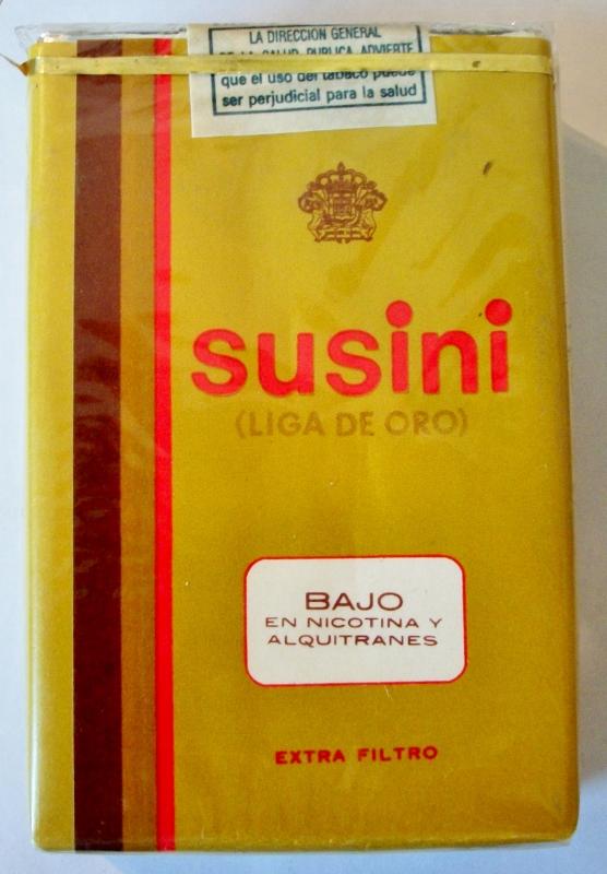 Susini (Liga de Oro - Golden League), Extra Filtro - vintage Canary Islands Cigarette Pack