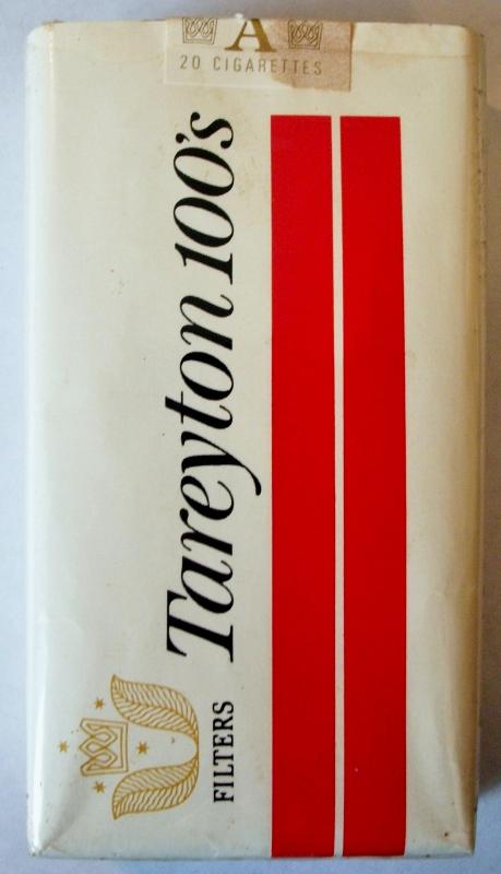 Tareyton Filters 100's - vintage American Cigarette Pack