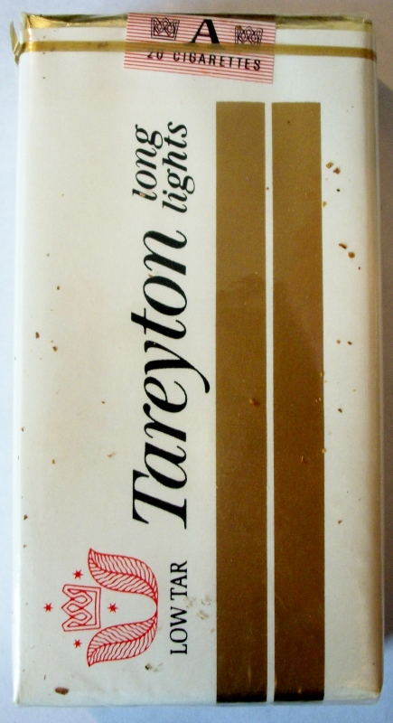 Tareyton Long Lights, Low Tar - vintage American Cigarette Pack
