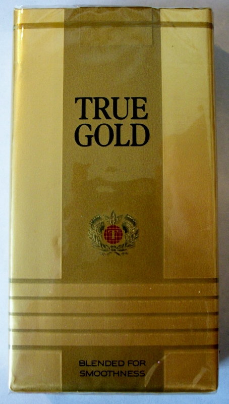 True Gold 100's - vintage American Cigarette Pack