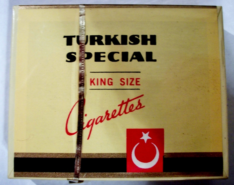 Turkish Special, King Size Box - vintage American Cigarette Pack