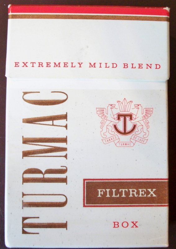 Turmac Filtrex Box, king size - vintage Swiss Cigarette Pack