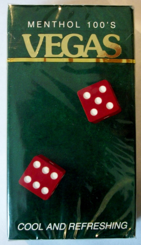 Vegas Menthol 100's box - vintage American Cigarette Pack (version 2)