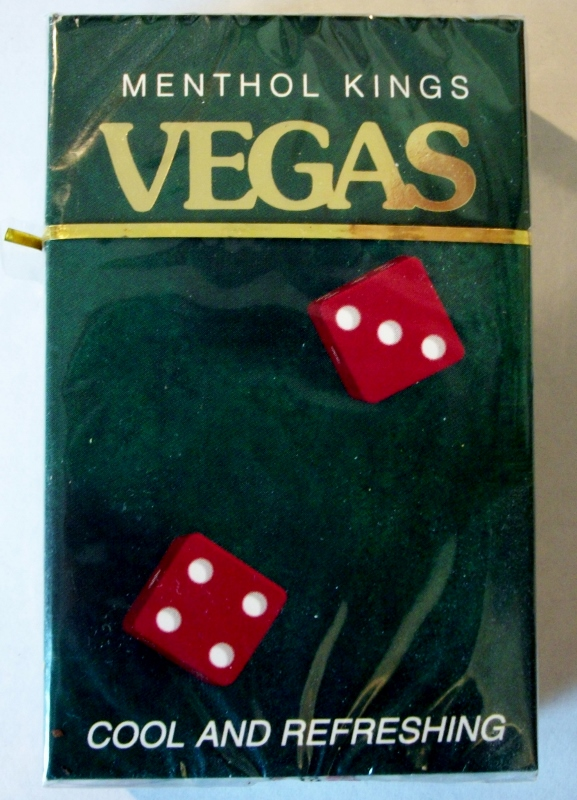 Vegas Menthol Kings box - vintage American Cigarette Pack