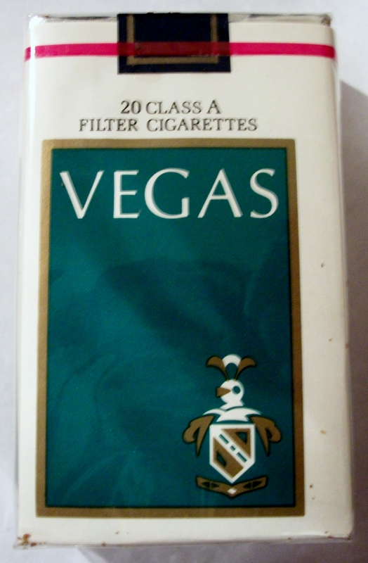 Vegas Filter, King Size - vintage American Cigarette Pack