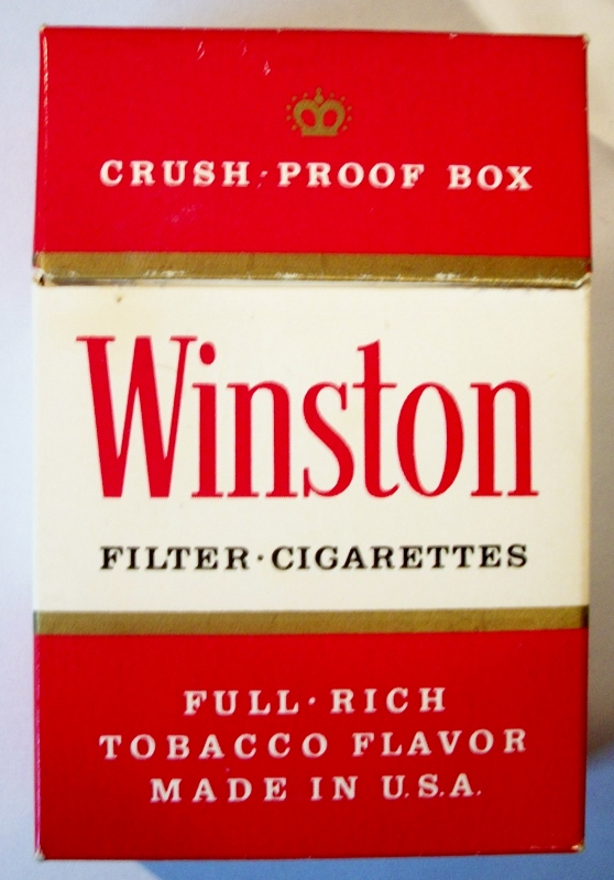 Winston Filter, Crush-Proof Box - vintage American Cigarette Pack