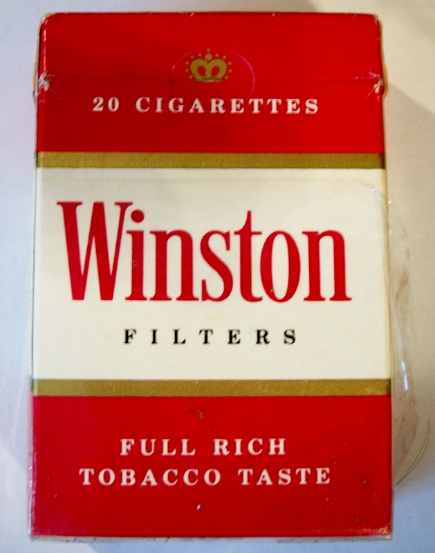 Winston Filters, King Size - vintage American Cigarette Pack