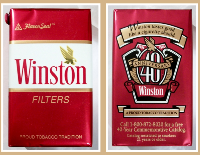 Winston Filters FlavorSeal, 40th Anniversary - vintage American Cigarette Pack