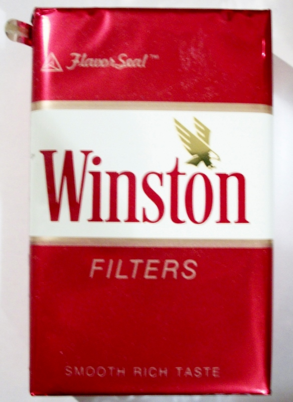 Winston Filters FlavorSeal - vintage American Cigarette Pack