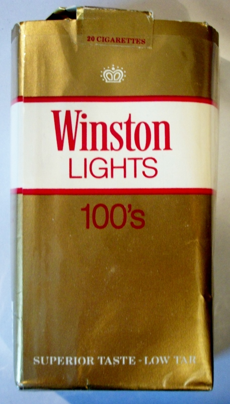 Winston Lights 100's - vintage American Cigarette Pack