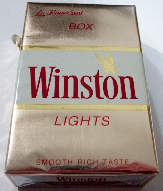 Winston Lights Box, King Size FlavorSeal - vintage American Cigarette Pack