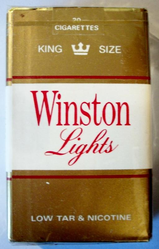 Winston Lights, King Size - vintage American Cigarette Pack