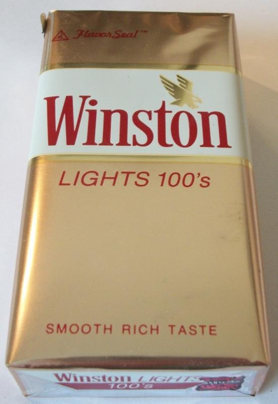 Winston Lights 100's FlavorSeal - vintage American Cigarette Pack