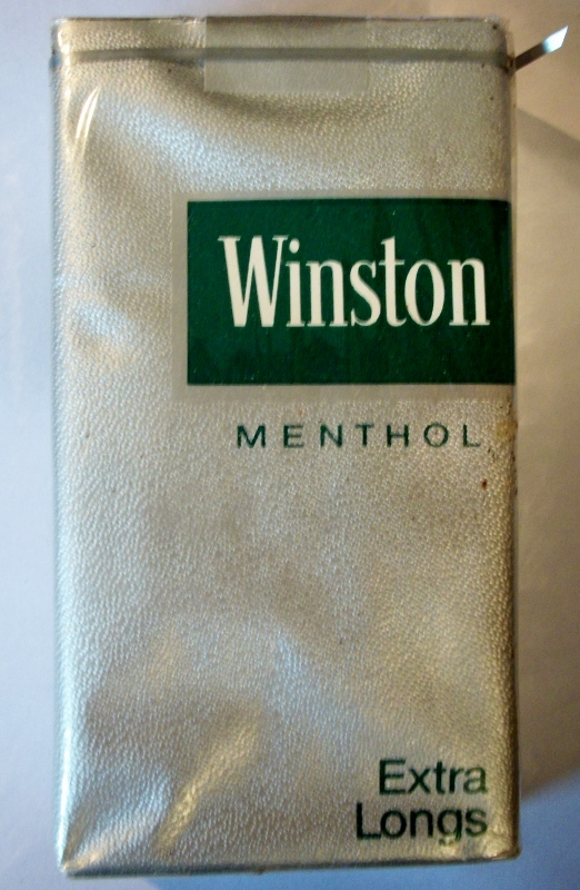 Winston Menthol Extra Longs, 100's - vintage American Cigarette Pack