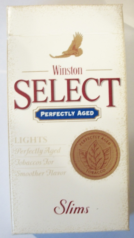 Winston Select Perfectly Aged Slims 100's - vintage American Cigarette Pack