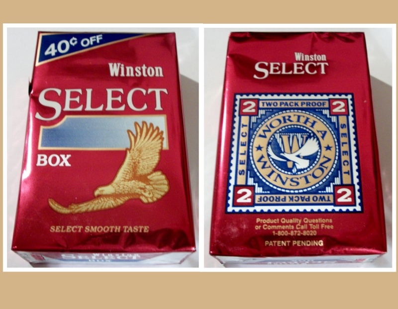 Winston Select box, King Size FlavorSeal w/coupon,