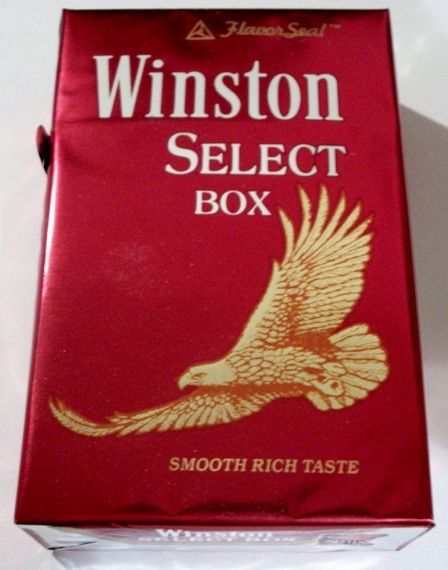 Winston Select box, King Size FlavorSeal - vintage American Cigarette Pack