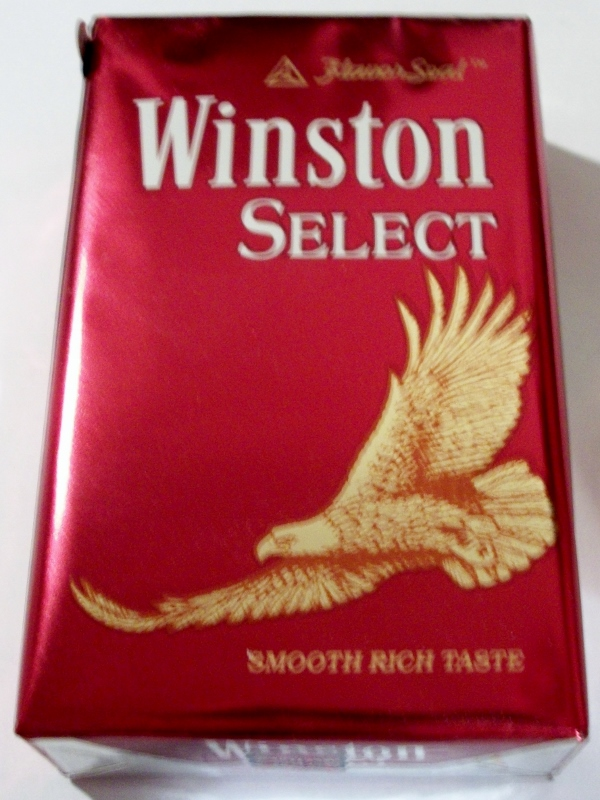 Winston Select, King Size FlavorSeal - vintage American Cigarette Pack