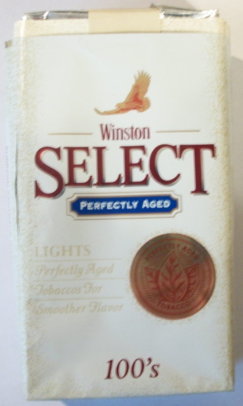 Winston Select Perfectly Aged 100's - vintage American Cigarette Pack