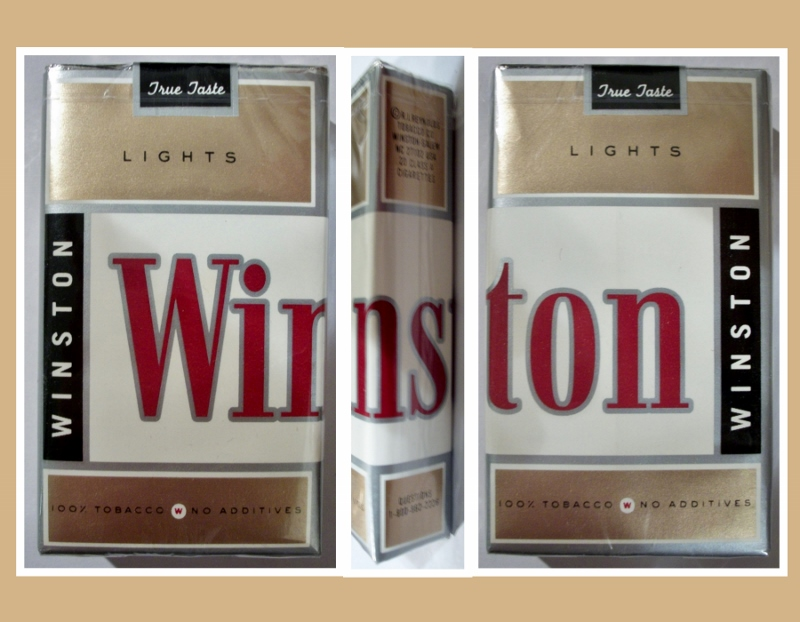 Winston True Taste lights - vintage American Cigarette Pack