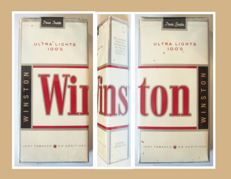 Winston True Taste Ultra Lights 100's - vintage American Cigarette Pack