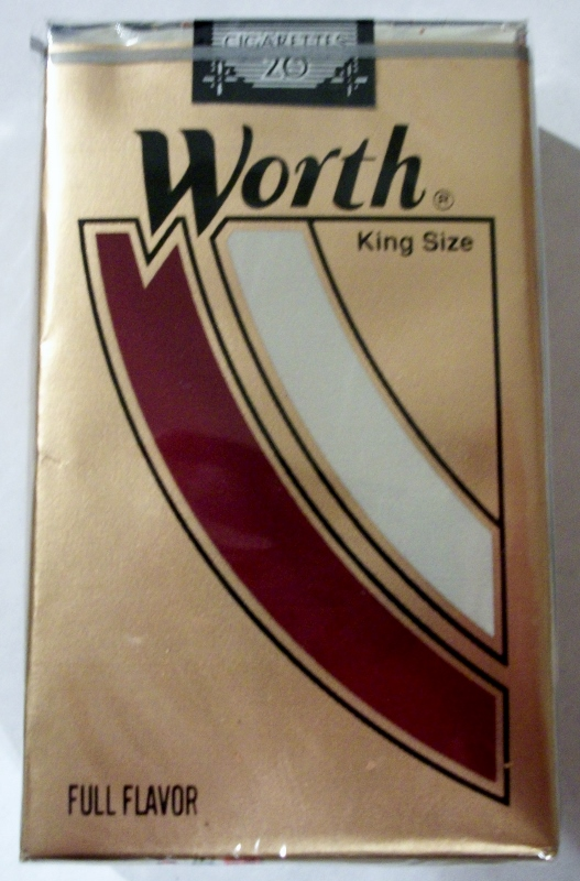 Worth Full Flavor, King Size - vintage American Cigarette Pack