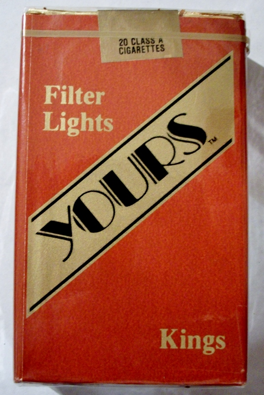 Yours Filter Lights Kings - vintage American Cigarette Pack