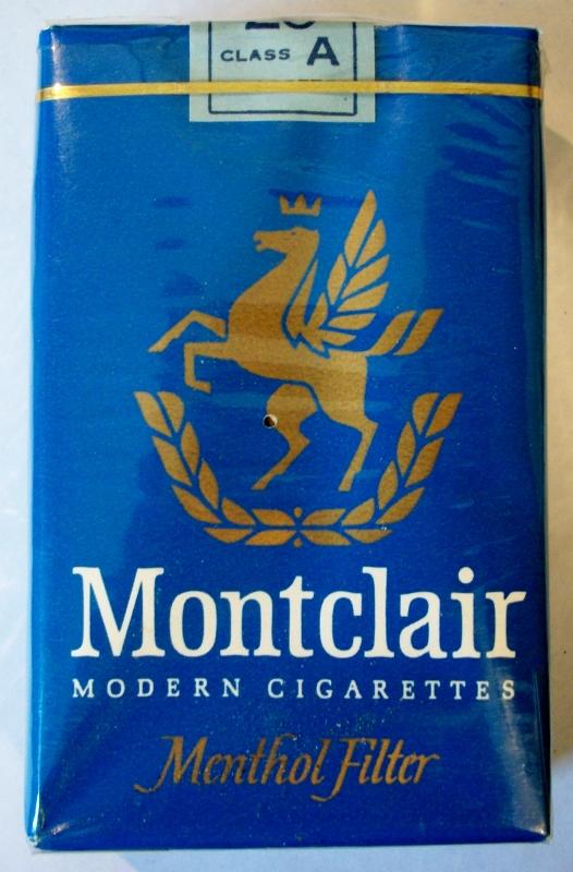 Montclair Modern Cigarettes 1962, Menthol Filter - vintage American Cigarette Pack