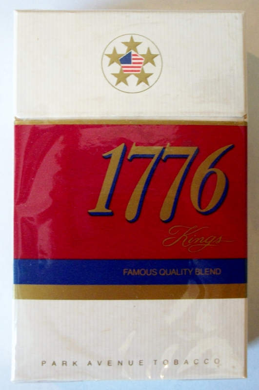 1776 Kings box, Park Avenue Tobacco - vintage American Cigarette Pack