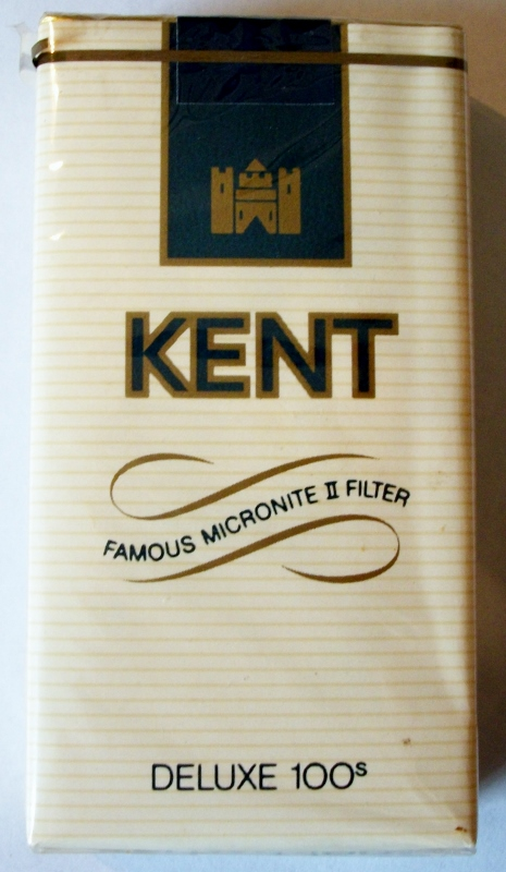 Kent Famous Micronite II Filter Deluxe 100s - vintage American Cigarette Pack