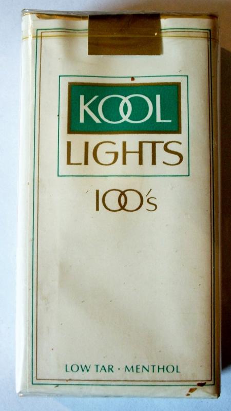 Kool Lights 100's, low tar menthol - vintage American Cigarette Pack