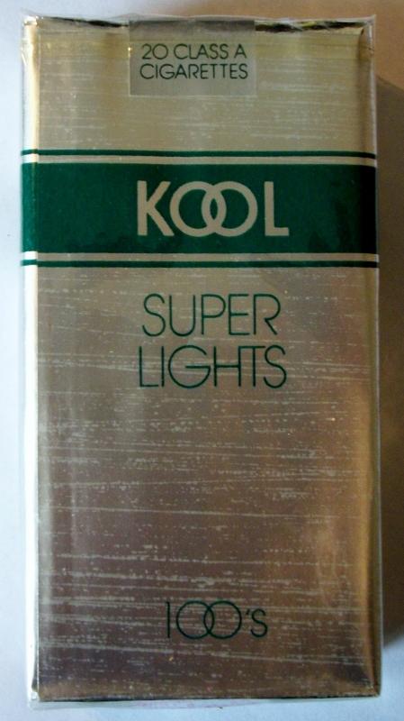 Kool Super Lights 100's - vintage American Cigarette Pack