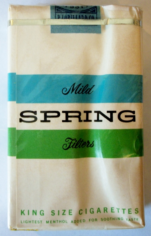 Spring Mild Filters (early 1960s), King Size - vintage American Cigarette Pack